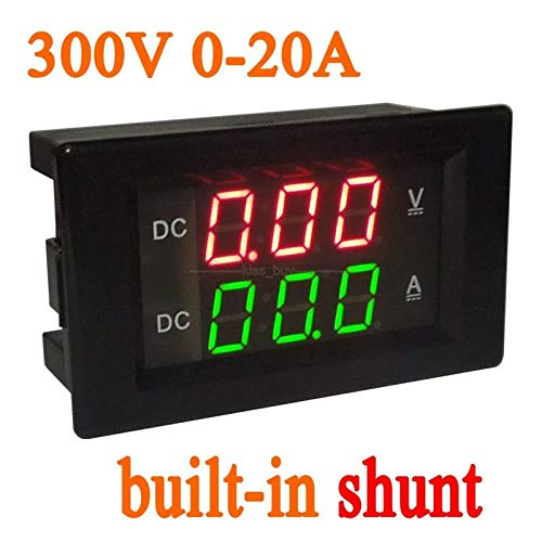 Review Of DP-iot DC 300V 20A Built-in Shunt Voltage Current Meter Digital LED Dual Display Voltmeter...