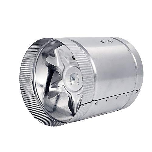 Hon&Guan Ventilador Extractor de Escape línea para Tienda de Cultivo hidropónico, Metal, 100mm (Metal Extractor -100mm)