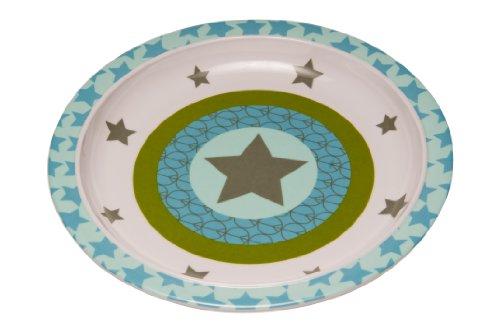 LÄSSIG Dish Plate Melamin Teller aus 100% Melamin BPA-frei und rutschfest, Starlight olive