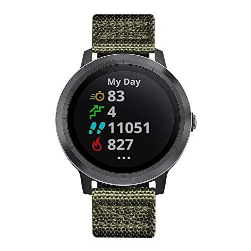Uhrenarmbänder Kompatibel für Garmin Vívoactive 4S Smartwatch 18mm NATO Zulu Nylon Dick G10 Original Premium Armbänder Ersatz