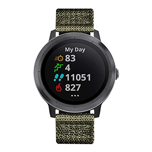 BINLUN Bandas de Reloj Compatibles para Garmin Vívoactive 4S Smartwatch 18mm NATO Zulu Nylon Thick G10 Original Premium Straps Reemplazo