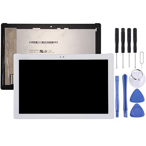 MISS FLORA Spare Parts Schermo .LCD e Digitizer Assemblea Completa for ASUS zenPad 10 Z300C   Z300CG   Z300CL   Z300CNL   P023   P01T (Verde Flex Versione Cavo) (Nero) (Colore : Bianca)