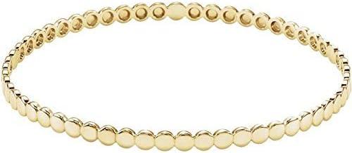 14K Yellow Gold Bracelet Beaded Bangle Raleigh Mall Kansas City Mall