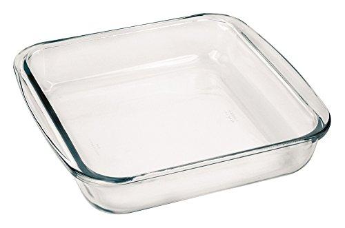 Marinex Bakeware Square Glass Roaster - Cazuela de cristal (9-5/8
