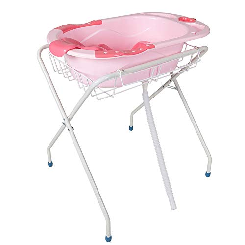 HANSHAN Diaper Changing Tables Changing Table,Multi-Function Nursing Table Massage Table Baby Can Folding Newborn Tub Tub Support 0-12 Month 31 × 28 × 34 Inch