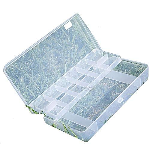 Lineaeffe Boîte Poly 3 21 x 11.5 x 4.5 cm Boîte de Pêche Rangement Accessoire Leurre Hameçon Compartiment Plastique