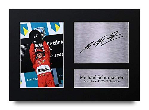 HWC Trading Michael Schumacher A4 Ungerahmt Signiert Gedruckt Autogramme Bild Druck-Fotoanzeige Geschenk Für F1 Formel Eins Fans
