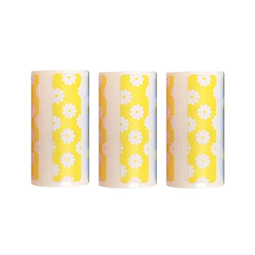 Noblik Rollo de Papel TéRmico 3X, Rollo de Etiquetas TéRmicas Directas en Color, ImpresióN Adhesiva Adhesiva Fuerte de 50X15 Mm para PeriPage A6 Amarillo