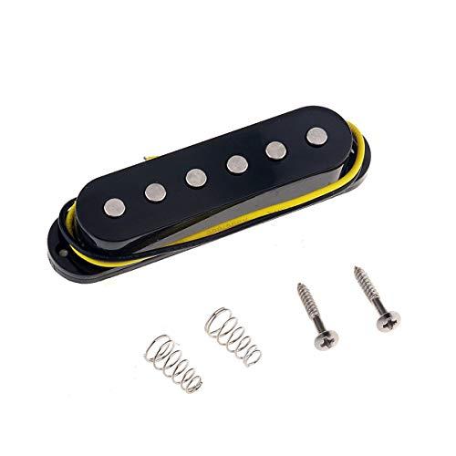 Musiclily 52mm Bobina Simple Pastilla del Puente para Guitarra eléctrica Estilo Strat, Negro