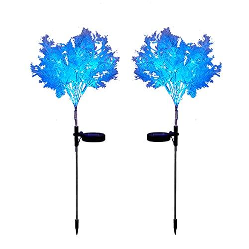TYM 2 stücke Solarsimulation Rime Lampe, intelligente LED Garten Laterne, wasserdichte Solar-Edelstahl-Stahllampe, geeignet für die Dekoration von Outdoor-Passagentur