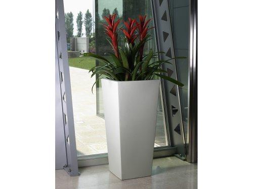 Euro3plast - Pot carré Kiam Gloss - 30 x 30 x 47 cm