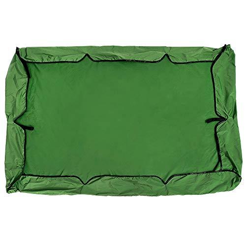 Toldo Abatible 195x125cm impermeable y a prueba de lluvia Carpa oscilación sombra cubierta de asiento del asiento del pabellón 2-3 Reemplazo al aire libre Protección UV Banco de Jardín al Aire Libre