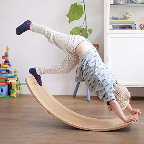 Los Niños De Madera Nórdica Placa Curvada, Barra De Equilibrio, Juguetes Balancín Educación Temprana Y La Formación De Los Niños Es El Yoga Curvadas Placa Oscilante del Balance,