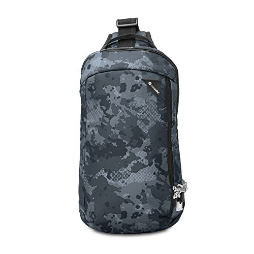 Pacsafe Vibe 325 - Anti-Diebstahl Cross-Body-Bag, Umhängetasche, Sling Bag, Grau Camo/Grey Camo