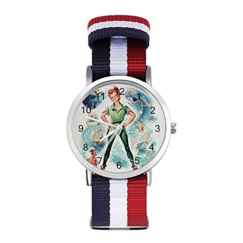 Peter Pan - Reloj de ocio para adultos, moderno, hermoso y personalizado de aleación, reloj deportivo casual para hombres y mujeres