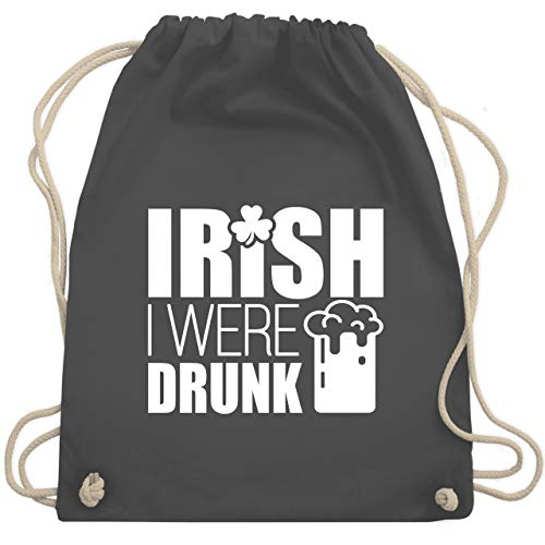 St. Patricks Day - Irish I were drunk - Unisize - Dunkelgrau - Bier - WM110 - Turnbeutel und Stoffbeutel aus Baumwolle