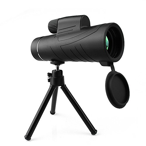 Handheld Monocular Telescope, Landnics 10X42 HD Spotting Scopes with Tripod Low Night Vision Prism Telescope for Wildlife & Bird Watching, Climbing, Hunting