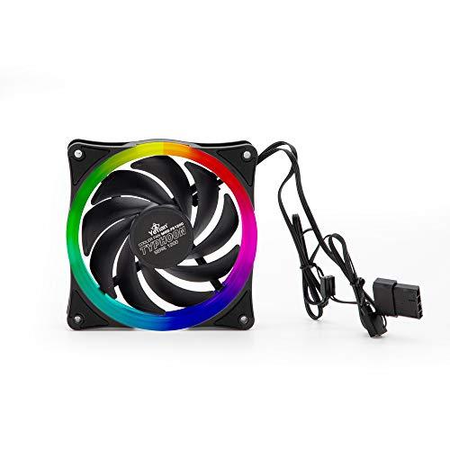 YEYIAN Ventilador Gaming para Caja de Ordenador Typhoon, 120mm, Negro/led RGB (FS1200)