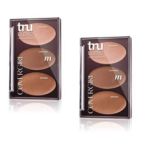 Pack of 2 CoverGirl Tru Blend Contour Palette, m - Medium