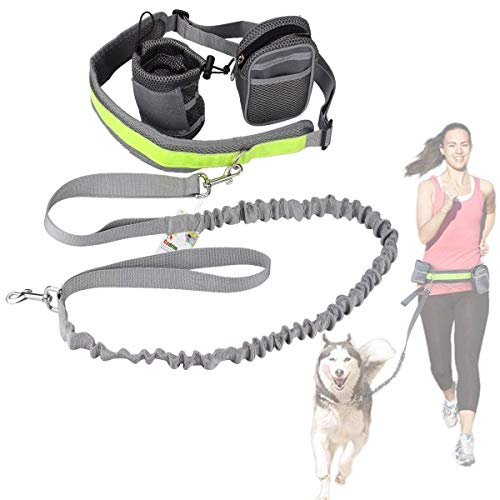 Cadrim Hands Free Dog Walking Belt Ajustable Dog Leash Waist Belt Pet Dog...