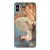 iPhone XR クリア ケース 薄型 スマホケース スマホカバー sc137(E) 名画 絵画 絵画の寓意 フランソワ ブーシェ アイフォン 10 アイホン テン スマートフォン スマートホン 携帯 ケース アイフォンXR アイフォンテンR アイフォン10R ハード プラ ポリカボネイト スマフォ カバー