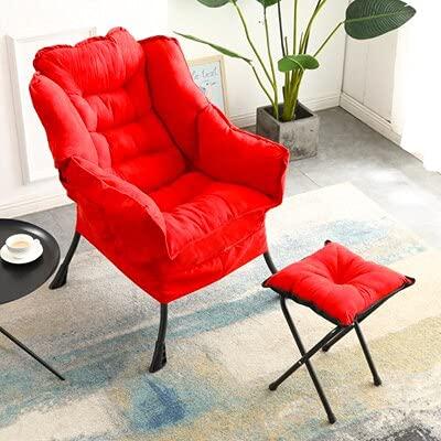 LIXUDECO Sofá moderno chaise longue con taburete para el pie, silla de salón y muebles de confort respaldo de la comodidad Silly lounge (color: BM248 03)