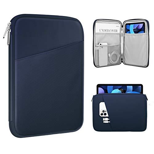 MoKo Funda Protectora de 9-11 Pulgada, Bolsa para iPad Pro 11, iPad 8th 7th Generation 10.2, iPad Air 4 10.9, iPad 9.7 Tablet o Ordenador de Poliéster con Bolsillos, Índigo