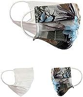 Pack double: cette offre contient deux masques identiques. Chaque masque est réversible et convient donc parfaitement à différentes tenues. Taille réglable: Les masques sont à 2 plis, peuvent être étirés jusqu'à 18 cm de long et conviennent donc à di...