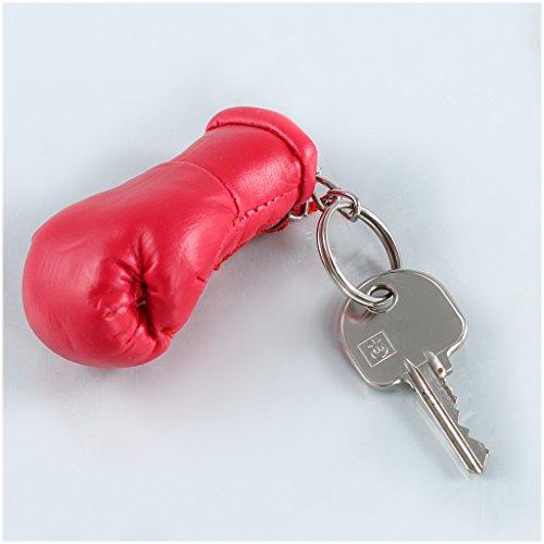 Sportfanshop24 Schlüsselanhänger/Anhänger für Schlüssel - ROT - Boxhandschuh mit Schlüsselring, 7 cm groß