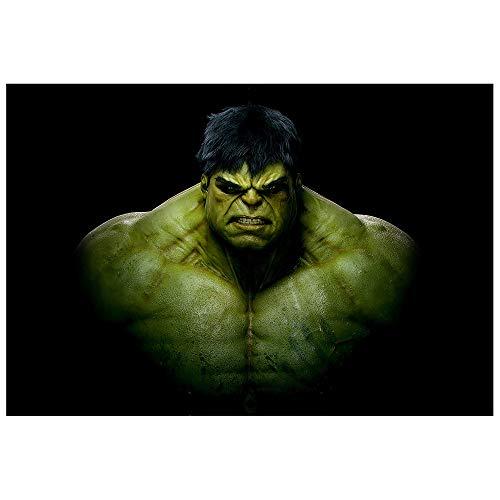 Hulk Dark Motiv auf Leinwand im Format: 120x80 cm. Hochwertiger Kunstdruck als Wandbild. Billiger als ein Ölbild! ACHTUNG KEIN Poster oder Plakat!