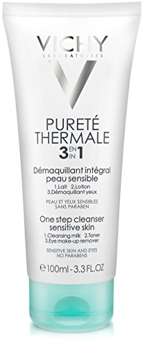 Vichy Pureté Thermale One Step Facial Cleanser, Multi Purpose Face Wash, Toner & Makeup Remover, Suitable for Sensitive Skin