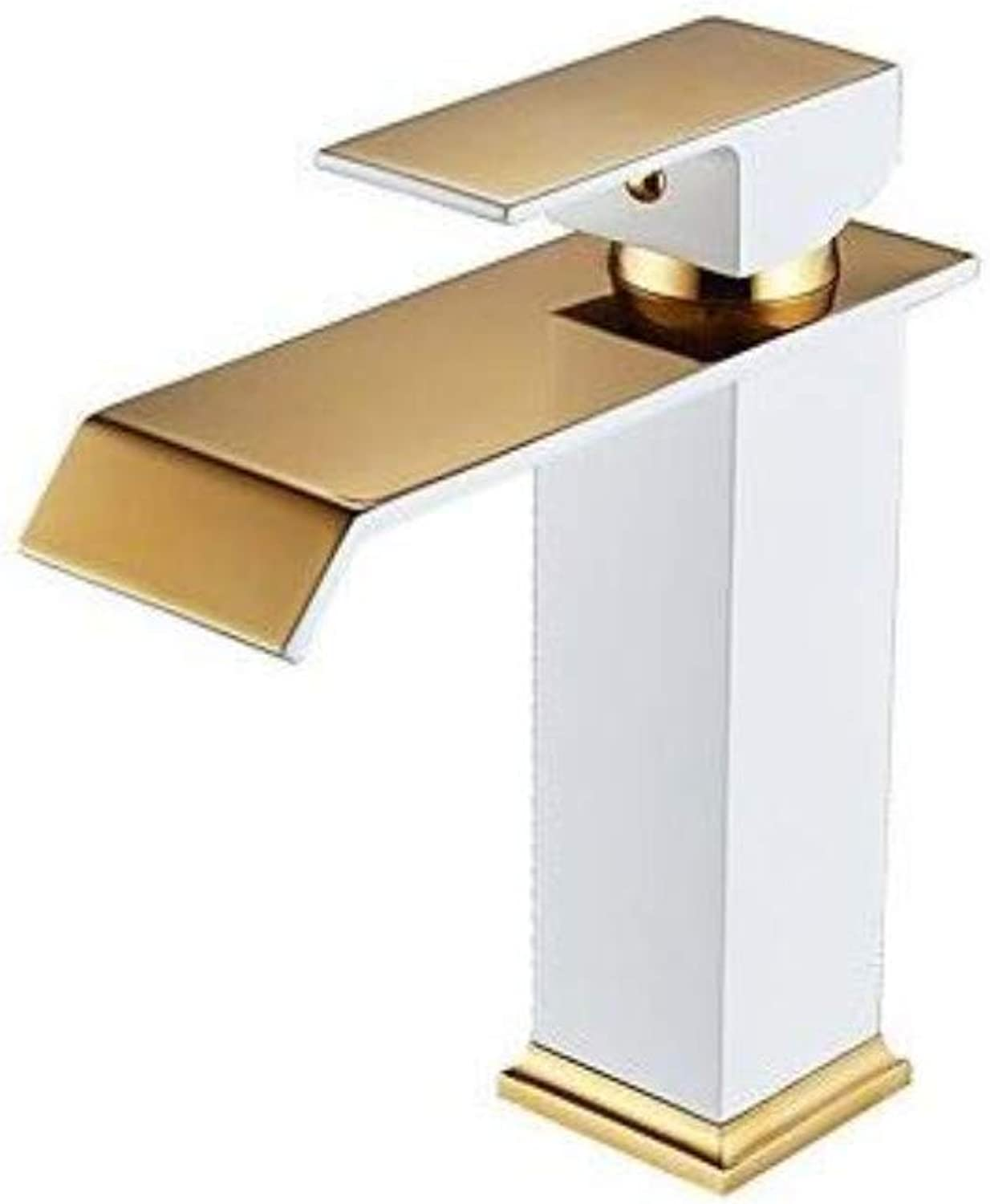 Taps Kitchen Sinkbathroom Sink Faucet - Waterfall Painted Finishes Centerset Single Handle One Holebath Taps