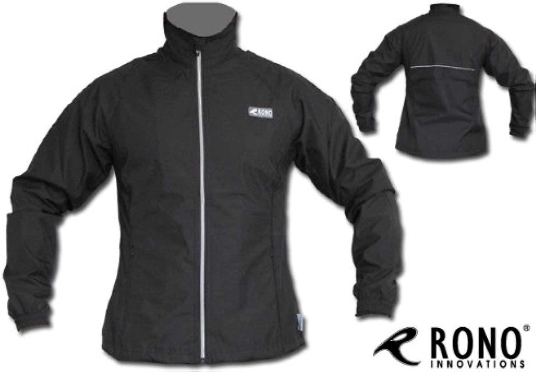 Schwarze Rono Damen Laufjacke - damen Regustop Running Jacket