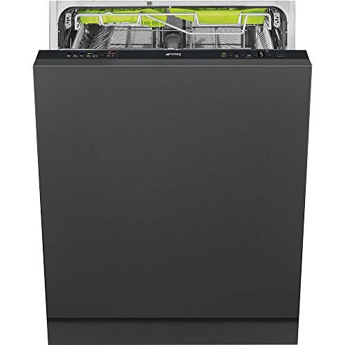 Smeg ST5335L Totalmente integrado 13cubiertos A+++ lavavajilla - Lavavajillas (Totalmente integrado, Tamaño completo (60 cm), Negro, 30 cm, Cajón, Acero inoxidable)