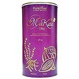 RawKao She Kakao Shatavari Superfood-Getränke-Pulver (Bio Rohkost Vegan) Energy-Trinkschokolade ohne Zucker, Heiße Schokolade, Kaffeeersatz, Geschenk für Frauen - Cacao Drink Mix Powder   PureRaw 480g