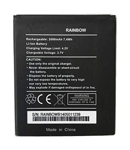 Bateria Compatible con Wiko Rainbow Lite/Rainbow Jam 3G / Wiko Barry/Blackphone BP1/2000mAh