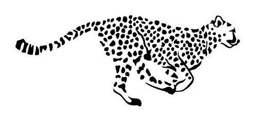 Pegatina de vinilo con diseño de leopardo, color negro