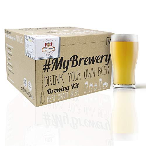 #Cervezanía Kit per Fare la Birra Artigianale. Stile Tripel Blonde Ale. 5 Litri. Malto macinato e Luppolo Fresco. con lievito d'abbazia Belga.