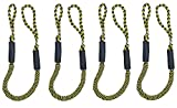 Bungee Cord Rope Dock Lines Stretches Shock Absorbs Marine Mooring Rope 4ft Black& Yellow 4 Set