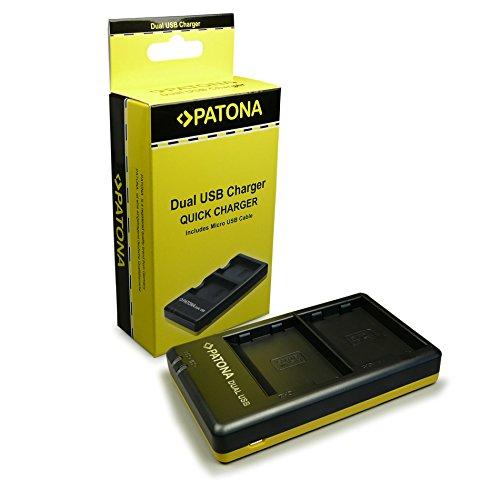 PATONA Caricabatteria doppio per EN-EL15 Batteria compatibile con Nikon V1 D7000 D7100 D800 D810 1 V1 D600