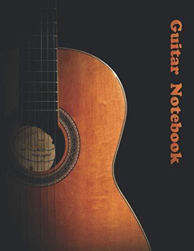 Guitar Notebook: Guitar Tablature Book, Composition Book, Music Notebook, Blank Guitar Tablature (110 Pages, A4 - Letter, 8.5x11 inch)