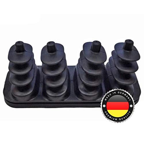 WS · SYSTEM Faltenbalg für Stapler aus Gummi – flexible & dehnbare Achsmanschette MADE IN GERMANY aus hochwertigem PVC – Schelle für Gabelstapler Linde 0009625521 0009625545