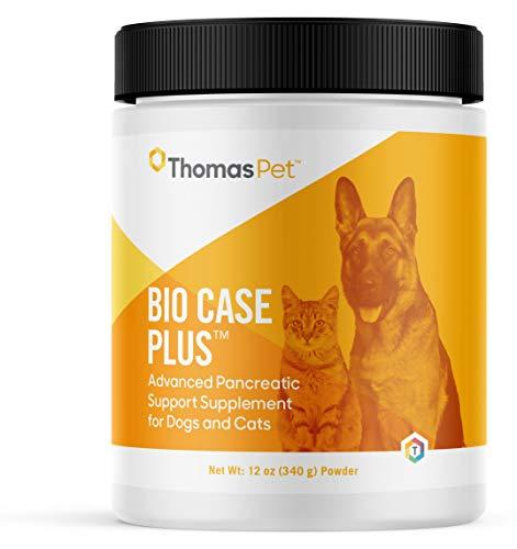 Thomas Pet Bio Case Plus - Pancreatic Enzymes for Dogs & Cats - Digestive Supplement - (12 Ounces, Powder)