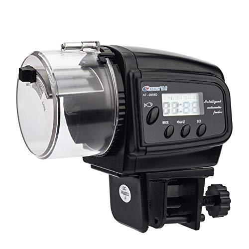 NICREW Distributeur Automatique de Nourriture pour Poissons avec Ecran LCD, Distributeur Poissons Réglable Multifonctionnel pour Aquarium