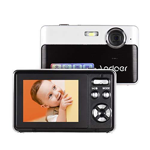 Andoer Mini Cámara Digital Portátil 24 Megapíxeles de Alta Definición Pantalla IPS de 2,4 Pulgadas Zoom Digital 3X Detección de Rostros con Batería de Litio Incorporada Negro