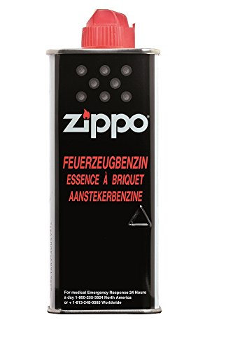 Zippo 4 x Zippo-Benzin für Feuerzeuge ,mit je 125 ml Inhalt