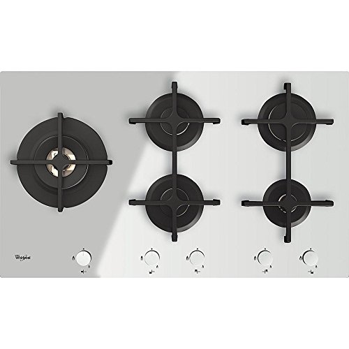 Whirlpool Goa 9523/WH Plaque – Plaque (intégré, gaz, verre, rotatif, partie supérieure avant, 230 V) Blanc