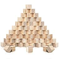 60 HIGH QUALITY PINEWOOD CUBES: This set includes 60 cubes which are all made from strong pine. This wood resists shrinking, splintering, swelling and is easy to screw, glue and paint onto. Each cube measures 3 x 3 x 3cm (1.18 x 1.18 x 1.18 inch). CU...