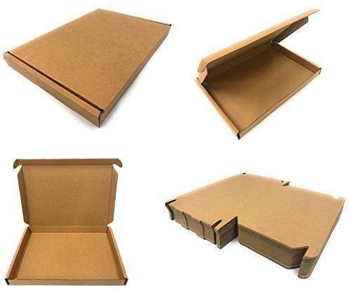 Inerra C5 A5 Großbrief Schachteln (Menge nach Wahl) Pip Post Mail Post Kiste - 235 X 165 X 22mm Hergestellt in Großbritannien - Braun, 50 x C5 Boxes