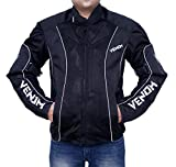 Venom Asphalt All Weather Motorcycle Riding Jacket (Black, S)